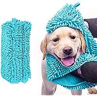 Toalla de baño del perro gato Toalla para animal doméstico Manta super absorbente Toalla ...