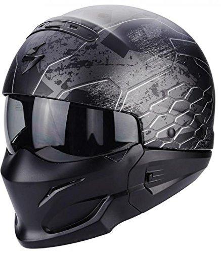Scorpion Motorradhelm - Exo Combat Ratnik, Noir/Transparent, Größe ()