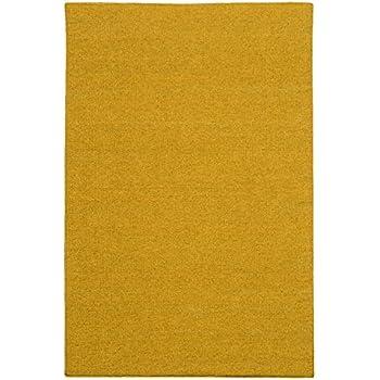 200x80cm Kelim Teppich Braun Einfarbig Uni Wolle Kurzflor Handgewebt Läufer