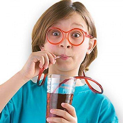 Packung von 12 Verrückte Trinken Strohhalm Gläser Kinder Partytüten Spielzeug