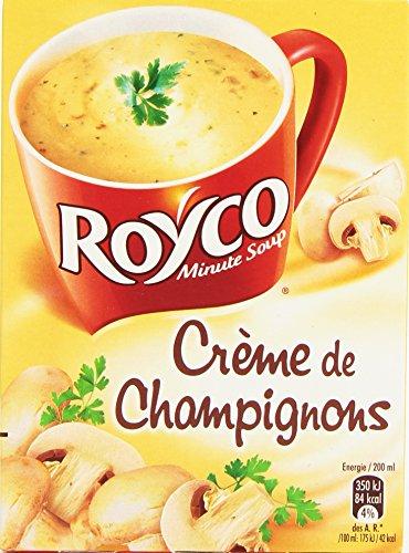 Royco Soupe Déshydratée Crème de Champignons - 4 Sachets de 20 cl - Lot de 6
