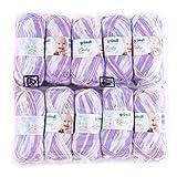 Gründl 3457-07 Baby Color Wolle, 70% Polyacryl 30% Polyamid, Flieder Mehrfarbig, 35 x 32 x 8 cm