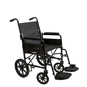 "Dash - 9TRL 17""x17"" Folding Back Attendant Propelled Lightweight Wheelchair - Crash Tested"