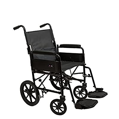"Dash - 9TRL 17""x17"" Folding Back Attendant Propelled Lightweight Wheelchair - Crash Tested"
