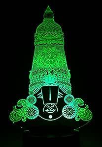 buy ajanta 3d night lamp lord tirupati balaji code 3028 tirumala lord venkateswara lord balaji shanku chakra nama face bhagwan 3d night lamp puja thali puja mandir akhand diya 4 mm x 5 3d night lamp lord tirupati balaji