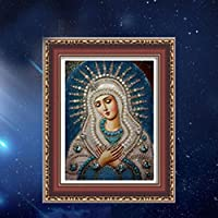 CHshe DIY 5D Blessed Virgin Mary Diamond Painting Kits full Cross Stitch Kit Crystal Rhinestone Embroidery Pictures Arts Craft for Home Wall Decor 40 * 30cm