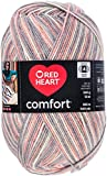Red Heart Comfort Yarn - Pink & Grey Print (Pack of 2 )