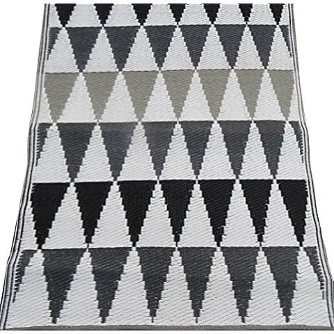 indian tappeto fatto a mano in polipropilene materiale modello geometrico