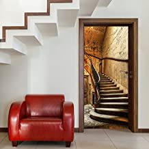 Fotomurales ,,Antique Stairs TT4' 86cm x 200cm escalera escalón puerta Puerta Papel Pintado Fotomural