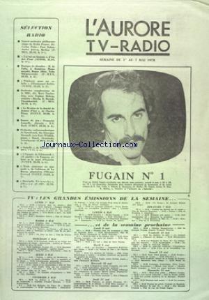 AURORE TV RADIO (L') du 01/05/1978 - SELECTION...