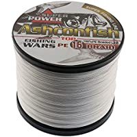 Ashconfish Hollow Core Braid Fishing Line - 16 Strands Multifilament Super Power Fishing Wire 100M/107Yards 200LB White