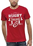 PIXEL EVOLUTION T-Shirt Rugby Toulouse Homme - Taille XXL - Rouge