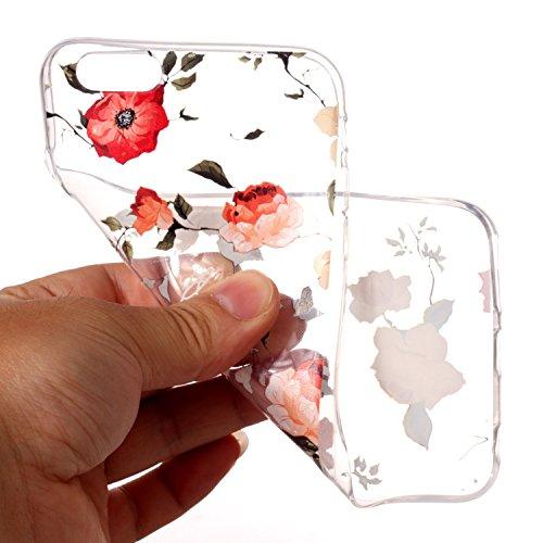 Hülle iPhone 6S (4,7 Zoll) Hülle, Apple iPhone 6S (4,7 Zoll) Hülle TPU Case Schutzhülle Silikon Case,Niedliche Cartoon Malerei Durchsichtige Rückschale und TPU Bumper Handy Tasche Case Cover Etui für  7