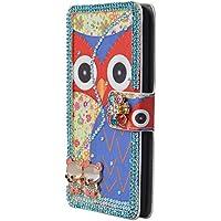 Owl Head Spritech (TM)-Custodia Flip a portafoglio in pelle sintetica in poliuretano, con tasca, per Samsung Galaxy Note 3