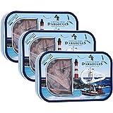 Chevaliers d'Argouges Boîte sardine 100g garnie de fritures chocolat lait 33% pour Pâques - Lot de 3