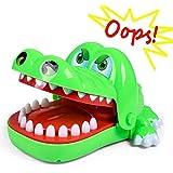 Hoktoy Dentista De Cocodrilo, Big Mouth Pulling Tooth Crocodile Toy,Juego De Dedo Mordedor
