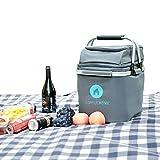 SimpleHome Wasserdicht Picknicktasche Große Kühltasche für Familien Picknick 30L faltbar Lunchtasche Thermotasche mit zweistöckig Design für Camping, Strand, Ausflüge, Grillen.
