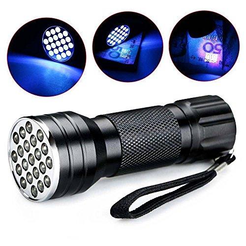 niceEshop UV-Taschenlampe schwarz Licht, 21LED 395nM UV-Schwarzlicht