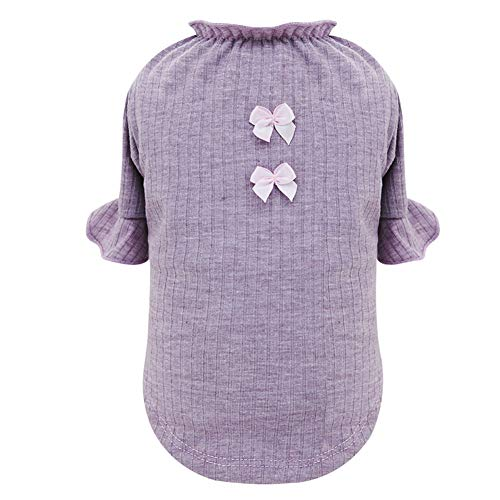Schlanken Körper Wickeln (CHEN. Pet Kleidung - Frühling, Sommer und Sommer T-Shirt dünne Kleidung Haustierbedarf,Purple,M)