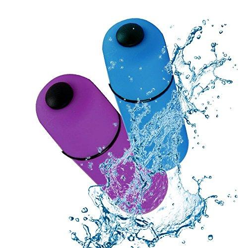 Vibrador de la bala del massager de la mini barra de la energía, massager eléctrico del punto del disparador (2 pedazos)