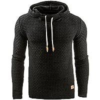 Fastar Sudaderas con capucha Jersey cálido para hombre - chaqueta abrigo de manga larga elástico transpirable otoño invierno (XL, Negro)