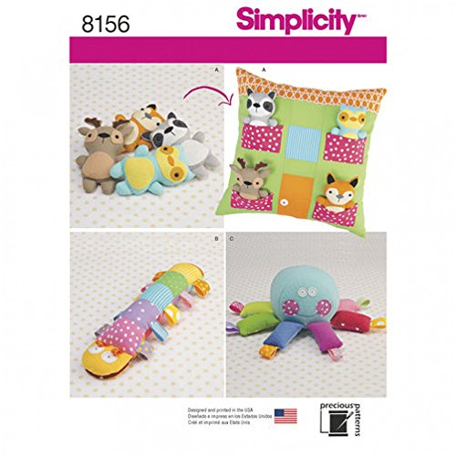 (Simplicity Crafts Easy Schnittmuster 8156Stofftier Spielzeug & Kissen House)