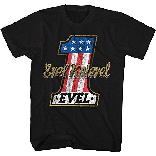 Evel Knievel - Herren Evelone T-Shirt Black