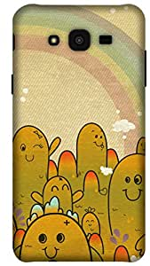 The Racoon Grip printed designer hard back mobile phone case cover for Samsung Galaxy J7. (Monster Ca)
