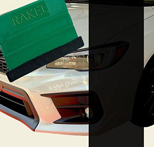 1A Style Sticker Schwarze Scheinwerfer Folie Dunkle Rückleuchten Verdunkelung 200 cm x 30 cm + Verkleberakel mit Filz, Tuning Folie KFZ, Autofolierung