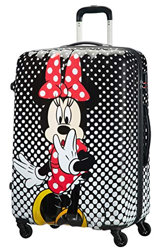 American Tourister Disney Legends Spinner 75 Alfatwist Kindergepäck, 75 cm, 88 Liter, Minnie Mouse Polka Dot