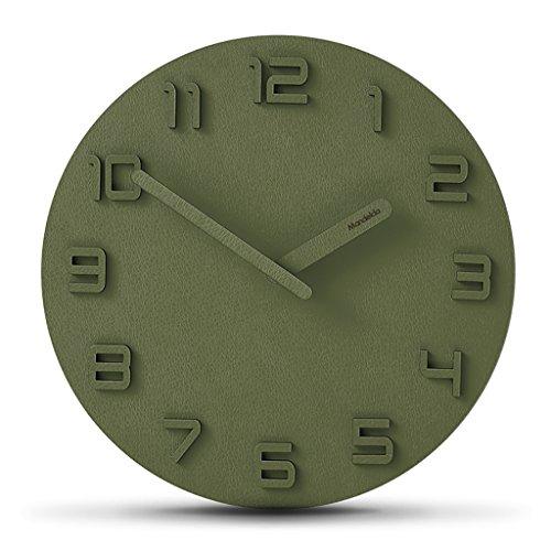 JLRQY Quarz Wanduhr, Stille Sweep Vintage Art Uhr 12 Zoll MDF Materialien Für Wohnzimmer Office Home Dekoration,D