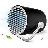 EasyAcc Mini USB Ventilatore a Doppia Lama Portable Personale Ventilatore da Tavola Ventilatore silenzioso con interruttore tattile Ventilatore regolabile portatile utilizzato in casa ufficio - Nero