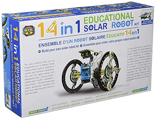 Urban Infotech 14-in-1 Educational Solar Robot Kit Assembled Puzzle Toys for Kids Build-Your-Own Robot Kit Science Project Helps Improve Children's Logical Thinking & Creativity Skills(Min Age-10 +)