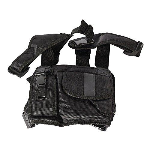 Haito Radio Brust Harness Brust Front Pack Tasche Holster Weste Rig für Zwei-Wege-Radio Walkie Talkie (Rescue Essentials)