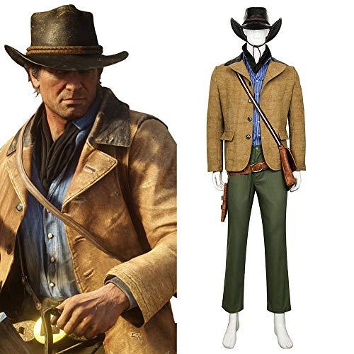 (Spiel Red Dead Redemption 2 Arthur Morgan Cosplay Outfit Kostüm Halloween Karneval Cosplay Kostüme nach Maß)