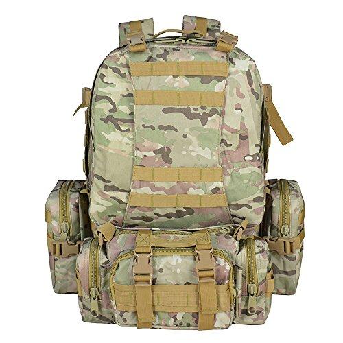 Imagen de  táctica militar versión actualizada, topqsc  de moda 55l múltiples colores para senderismo montañismo marcha macuto al aire libre bolsa de viaje de calidad alta cp
