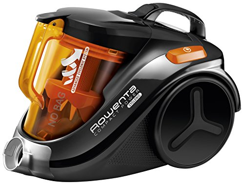 Rowenta RO3753EA Aspirateur Sans Sac Compact Power Cyclonic Parquet 3A 750W Orange