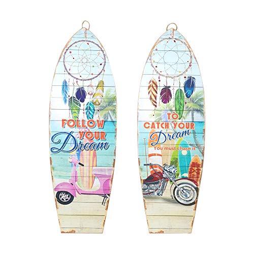 Vidal Regalos Adorno Decorativo Pared x2 Tablas Surf