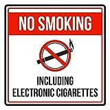 Maureen52Dorothy Rauchen Auch Elektronische Zigaretten Rot Schwarz und Weiß Sicherheit Warnung Schild Sticker Vinyl Quadratischen zudem, Label Aufkleber Sqaure 9x 9