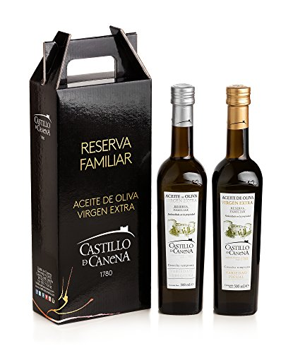 Castillo de Canena - Estuche Reserva Familiar Arbequina y Picual - Aceite de Oliva - 2 x 500 ml - Total: 1000 ml