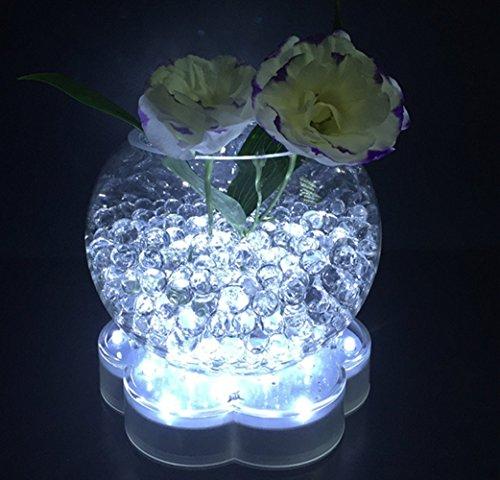 atcket (weiß) 6in Acryl Blume Form LED Kennzeichenbeleuchtung, mit 23super hellen LEDs für Vasen Tisch Dekoration
