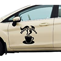myDruck-Store Car Sticker Hot Coffee Decoration Tattoo Car Sticker Car Adhesive 5Q665 - Matte Black, 40cm