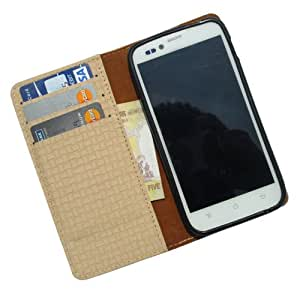 i-KitPit PU Leather Wallet Flip Case For Karbonn S1 Titanium (BEIGE)