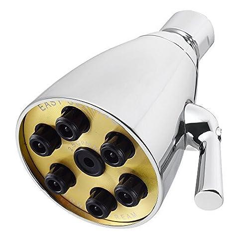 KES Lation Haute Pression Réglable Pomme De Douche 2.5 GPM 6-Jet Luxe Hôtel Style,Poli,J132