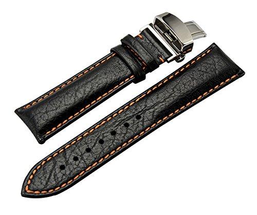 e38a50e17ede 20mm 22mm Pulseras de Reloj de Cuero Genuino Retro Correas de reemplazo  para los Hombres