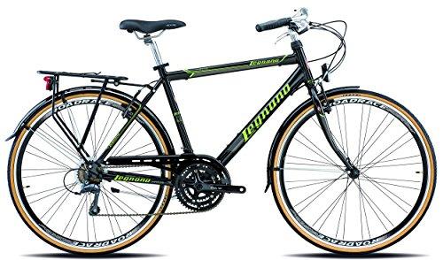 Legnano Ciclo 300 Sanremo, City Bike Uomo, Nero/Verde, 52