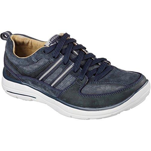 Skechers Glides Soman, Baskets Basses Homme Bleu Marine