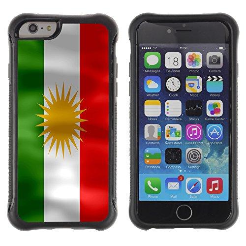 Graphic4You Kurdistan Kurdisch Flagge Stoßfeste Anti-Rutsch Weichen Hülle Case Tasche Schale Schutzhülle für Apple iPhone 6 / 6S Design #3