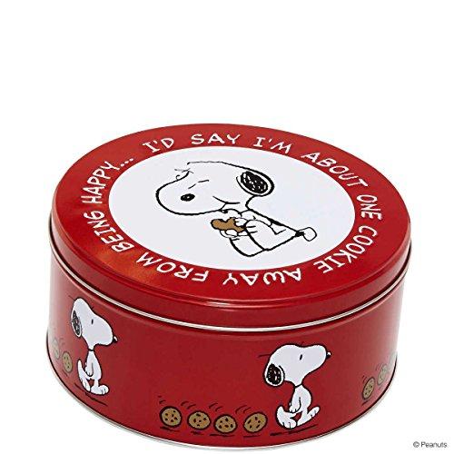 BUTLERS PEANUTS Dose Snoppy/Keks rund- Keksdose - Blechbox - Ø 16,8 cm Peanuts Snoopy Vintage