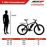 CHRISSON 27,5 Zoll E-Bike, E-Mountainbike Pedelec Elektrofahrrad E-Mounter 1.0 mit Bosch Performance Line Motor Akku Powerpack 300 und Shimano ACERA 3000 Schaltung, Schwarz 48 cm - 8